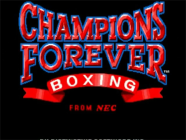 Champions Forever Boxing - Screenshot - Game Title