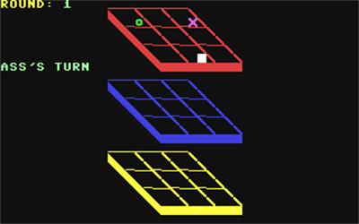 3D Tic-Tac-Toe (COMPUTE! Publications, Inc.) - Screenshot - Gameplay