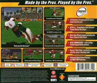 NCAA GameBreaker 2001 - Box - Back