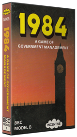 1984: A Game of Government Management - Box - 3D