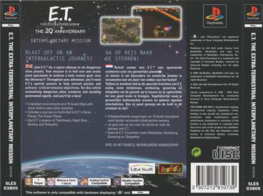 E.T. The Extra-Terrestrial: Interplanetary Mission - Box - Back