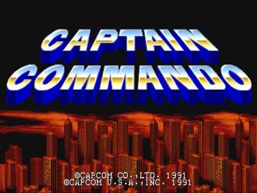 Captain Commando - Screenshot - Game Title