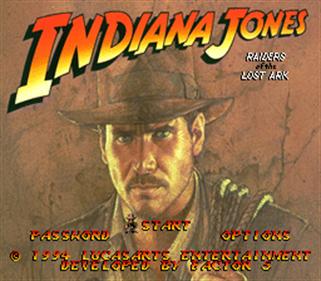 Indiana Jones' Greatest Adventures - Screenshot - Game Title