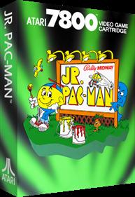 Jr. Pac-Man - Box - 3D