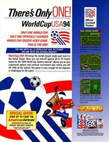 World Cup USA 94 - Advertisement Flyer - Front