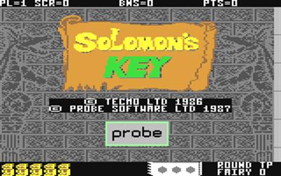 Solomon's Key - Screenshot - Game Title