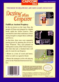 Destiny of an Emperor - Box - Back