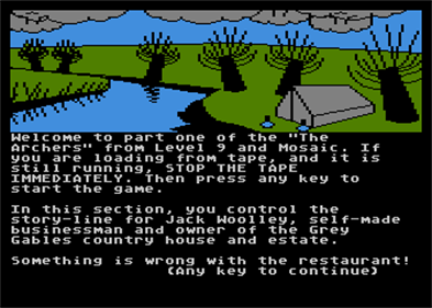 The Archers - Screenshot - Game Title