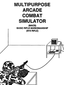 Multi-Purpose Arcade Combat Simulator - Advertisement Flyer - Front