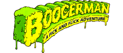 Boogerman: A Pick and Flick Adventure - Clear Logo