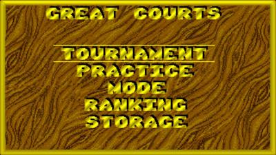 Great Courts - Screenshot - Game Select