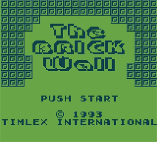 The Brick Wall - Screenshot - Game Title