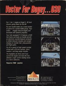 Tomcat: The F-14 Fighter Simulator - Box - Back
