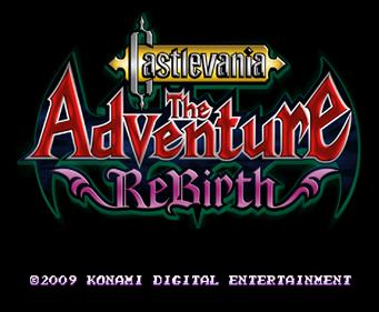 Castlevania: The Adventure ReBirth - Screenshot - Game Title