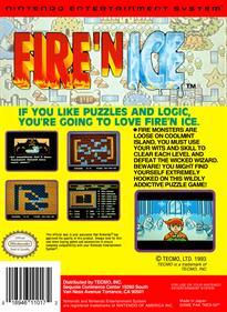 Fire 'n Ice - Box - Back