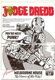 Judge Dredd - Advertisement Flyer - Front