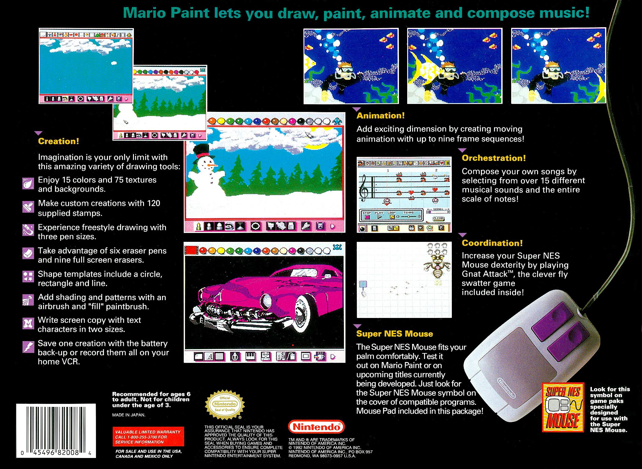 Mario Paint Details Launchbox Games Database