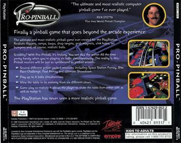 Pro Pinball - Box - Back
