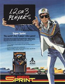 Super Sprint - Advertisement Flyer - Front