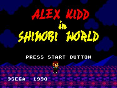 Alex Kidd in Shinobi World - Screenshot - Game Title