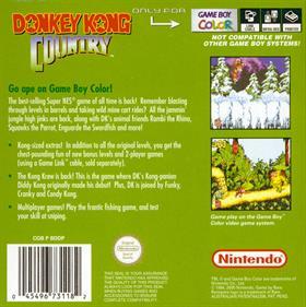 Donkey Kong Country - Box - Back