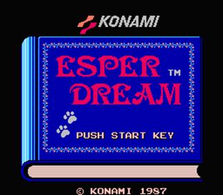 Esper Dream - Screenshot - Game Title