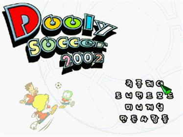 Dooly Soccer 2002 - Screenshot - Game Title
