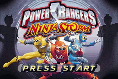 2 Games in 1: Power Rangers: Ninja Storm + Power Rangers: Time Force - Screenshot - Game Title