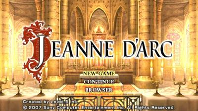Jeanne d'Arc - Screenshot - Game Title