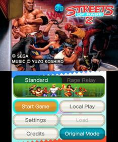 3D Streets of Rage 2 - Screenshot - Game Title