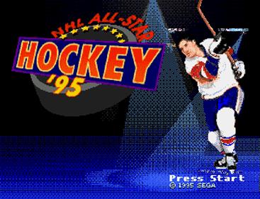 NHL All-Star Hockey '95 - Screenshot - Game Title