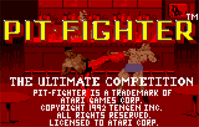 Pit-Fighter - Screenshot - Game Title