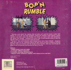 Bop'n Rumble - Box - Back