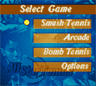 All Star Tennis 2000 - Screenshot - Game Select