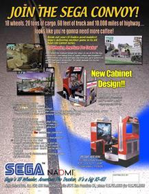 18 Wheeler: American Pro Trucker - Advertisement Flyer - Back