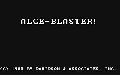 Alge-Blaster! - Screenshot - Game Title