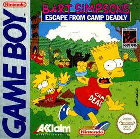 Bart Simpson's Escape from Camp Deadly - Box - Front