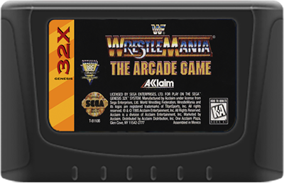 WWF WrestleMania: The Arcade Game - Cart - Front
