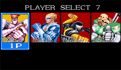 Captain Commando - Screenshot - Game Select