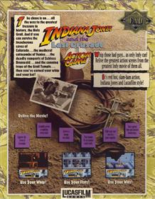 Indiana Jones and the Last Crusade - Box - Back