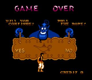 Aladdin - Screenshot - Game Over