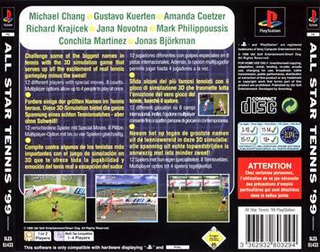All Star Tennis 99 - Box - Back