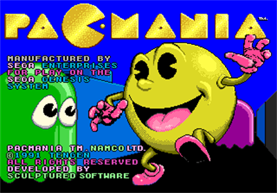 Pac-Mania - Screenshot - Game Title