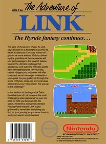 Zelda II: The Adventure of Link - Box - Back - Reconstructed
