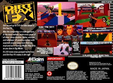 Dirt Trax FX - Box - Back