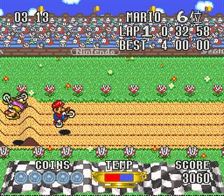 Excitebike: Bunbun Mario Battle: Stadium 4 - Screenshot - Gameplay