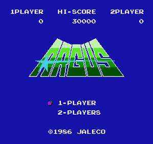 Argus - Screenshot - Game Title