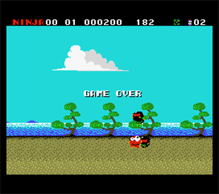 Ninja-kun: Asura no Shou - Screenshot - Game Over