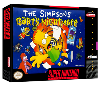 The Simpsons: Bart's Nightmare - Box - 3D