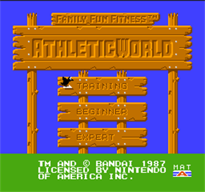 Athletic World - Screenshot - Game Title